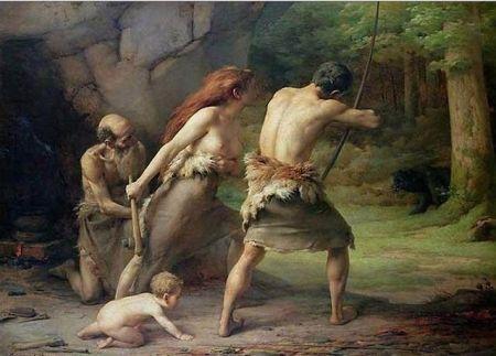 Emmanuel_Benner_-_Prehistoric_Man_Hunting_Bears