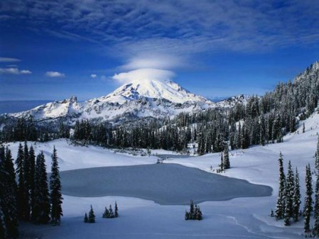 Beautiful Snow Mountain Scenery