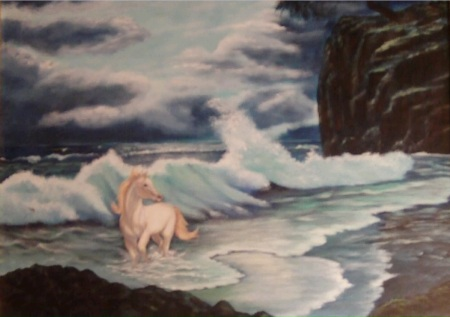 horse on tide